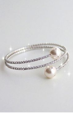 The New Drill Pearl Bracelet, this is so different and elegant I love it! eah