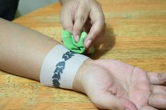 Create your own temporary tattoo... Be sure to read the instructions for the best kind of ink to use!