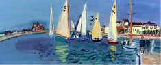 Regatta At Deauville by Raoul Dufy Handmade oil painting reproduction on canvas for sale,We can offer Framed art,Wall Art,Gallery Wrap and Stretched Canvas,Choose from multiple sizes and frames at discount price. Oil Painting On Canvas, Canvas Art Prints, Mall, Raoul Dufy, Oil Painting Reproductions, French Artists, Framed Art, Artwork, Sail Boats