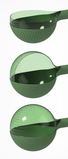 Veggie is a hand-held salad spinner and colander, ideal for washing and drying vegetables, herbs or legumes - Veggie Red Dot Design Award for Design Concepts
