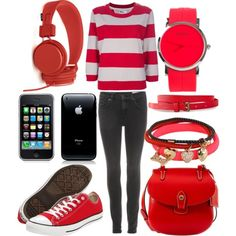Outfits for Teenage Girls   red outfits for teenagers - Polyvore