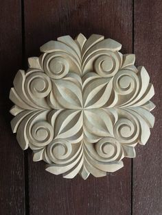 Woodcarving Rosette Handmade Home Decor Wall by CarvingRoots