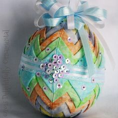 NEW Quilted Easter Egg Ornament Christmas by DelightfullyOrnament, $18.00