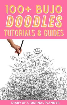 Make your 2021 bullet journal look incredible by learning to doodle like a pro! we've got the ultimate bundle of bujo doodle tutorials! #bulletjournaldoodles #howtodraw #doodles Happy Doodles, Bujo Doodles, Love Doodles, Simple Doodles, Bullet Journal Art, Art Journal Pages, Journal Ideas, Doodle Drawings, Easy Drawings