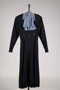 Dress Elizabeth Hawes  Date: ca. 1937 Culture: American Medium: Wool Accession Number: 2009.300.8093