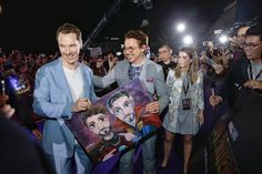 Benedict Cumberbatch and RDJ - Avengers: Infinity War Red carpet Fan. Avengers Characters, Marvel Actors, Marvel Heroes, Captain Marvel, Marvel Avengers, Avengers Team, Avengers Cast, Dc Movies, Cute Actors