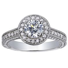 hellooo 18K White Gold Luxe Pavé Diamond Halo Ring (over 3/4 ct. tw.) from Brilliant Earth