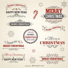 Retro-Stil Weihnachten Abzeichen