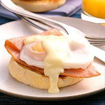 Eggs Benedict; Weight Watchers 7 PointsPlus value.