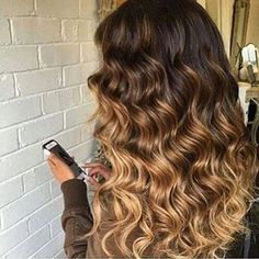 # Extensions # Haarverlängerung # russische Tresse# Lange Haare # Balayage Hair# Balayage Tresse # ombre Hair # ombre brown to blonde # Victorias Secret hair # shopping # lange haare hair # Microrings in# Balayage Clip in# flip in hair# Colored Curly Hair, Long Curly Hair, Curly Hair Styles, Natural Hair Styles, Short Hair, Cabelo Ombre Hair, Curly Balayage Hair, Ombre Curly Hair, Curly Blonde