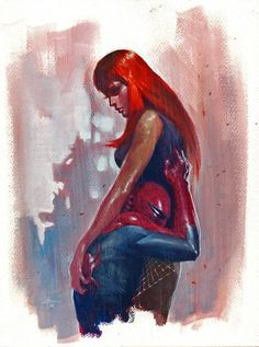 Spider-Man and Mary Jane Watson by Gabriele Dell'Otto