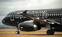 Air New Zealand continues to show that black (ink) is the new black. (Andrew Aley)