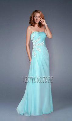 Vestidos azules de fiesta, muy tranquiros y elegantes.