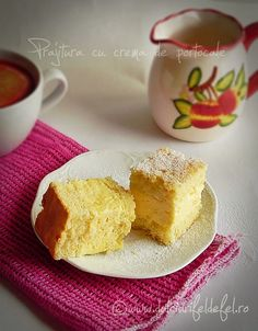 Prajitura cu crema de portocale Good Food, Pudding, Sweets, Cake, Desserts, Greedy People, Tailgate Desserts, Deserts, Gummi Candy