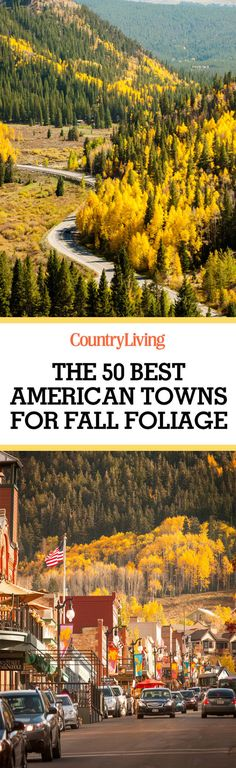 Love fall foliage? Pin this to bookmark the prettiest small towns in America for the fall.