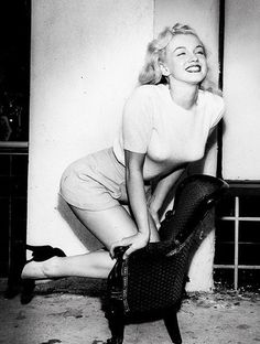 Marilyn with a genuine grin