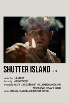 Polaroid, Shutter Island Film, Leonardo Dicaprio Shutter Island, Leonardo Dicaprio Movies, Island Movies, Film Poster Design, New Movie Posters, Movie Prints, Aesthetic Movies