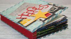 Upcycling - Minibook mit Briefumschlägen aus Kalenderblättern - Stampin'...