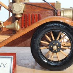 Woodworking plan to build a wood model of a Model T Ford Coloring For Kids Free, Wooden Words, Wood Toys, Ford Models, Woodworking Plans, Antique Cars, How To Plan, Building, Trucks