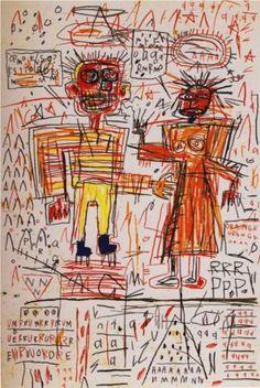 Self-Portrait - Jean-Michel Basquiat  Amor... relación de pareja... Es una situación difícil de explicar pero que esta pintura puede hacerlo de forma rápida... El amor es complicado de entender, tiene muchos detalles, se puede dar entre dos personas, compartes vivencias... pensamientos... compartes vida. Discutes y sonríes.