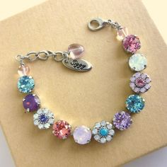 PRINCESS Swarovski crystal bracelet flower girl by SiggyJewelry, $42.00 Sabika inspired