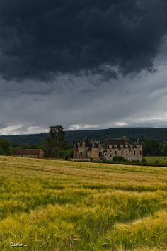 Storm looming over Chateau de Boucard.