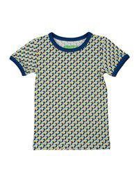 Lily-Balou - Leo T-shirt met blauwe mozaiekprint