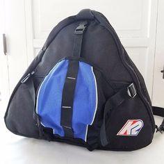 79bb085ad638 K2 Boot Helmet Bag Pack Ski Black Blue Red White Logo Patch Nylon Vintage   K2