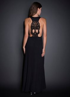 See You Monday Embroidered Skull Back Maxi Dress | Dresses