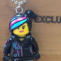 Wyldstyle Necklace - Lego Minifigure - from The Lego Movie by creativityismessy, $15.00