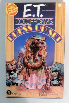 T621. VINTAGE E.T. The Extra Terrestrial COLORFORMS Dress Up Set (1982)
