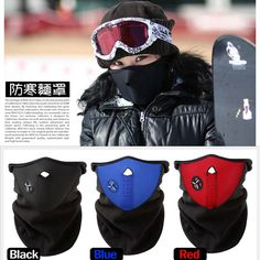 Bike Motorcycle Face Mask Snowboard Sport Winter Warmer Snowboarding Face Shield New Black Red Blue for Cross-country skiing #CLICK! #clothing, #shoes, #jewelry, #women, #men, #hats, #watches