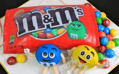 Celebrate with Cake!: M&M's Cake M&ms Cake, Eat Cake, Cute Cakes, Pretty Cakes, Character Cupcakes, Candy Cakes, Fondant Toppers, Themed Cupcakes, Colorful Cakes