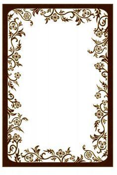 Для текста Красивая рамка с цветами коричневая рамки