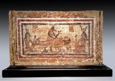 Egyptian Wood Ushabti Box - Embalming Scene Depicted : Lot 7A