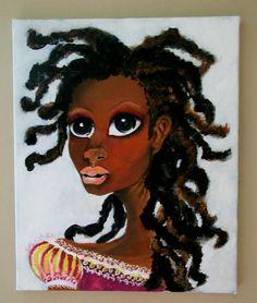 My Little Empress- Black Art Painting
