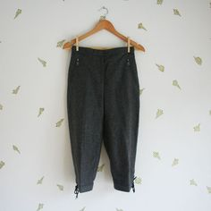 vintage 80s womens riding pants / west german / grey by foxandrook