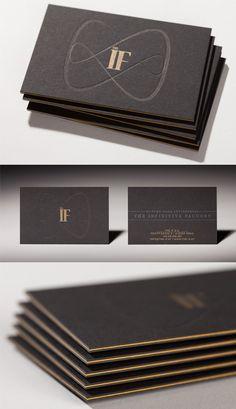 Sleek Black Edge Painted Letterpress Business Card Design