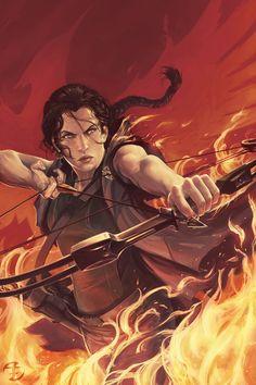 Adam Schumpert Freelance Illustrator  Girl on Fire Hunger Games fan art - done for the Illustration Master Class