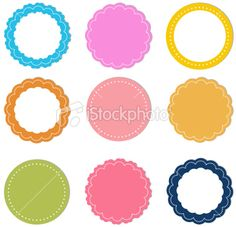 stickers Royalty Free Stock Vector Art Illustration