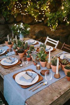 decoração de casamento com cactos e suculentas