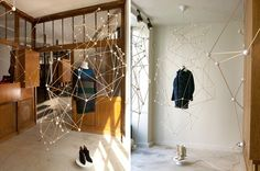 these special window installations entitled 'molecular structure' can be found in the fashion designer's shops in paris, new york, madrid, beirut and beijing.