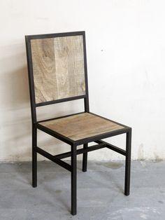 Krzesło industrialne z mango - Wymiary: 45x45x100 - 410zł - Krzesła - Meble - Sklep internetowy Guido