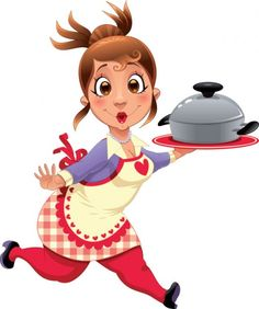 Chef Cooking Cartoon | Cartoon chef and attendant image 02 - vector Free Vector