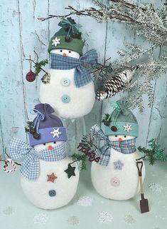 Snowy Friends Snowman Felt Pattern van RaggyDollsSupplies op Etsy