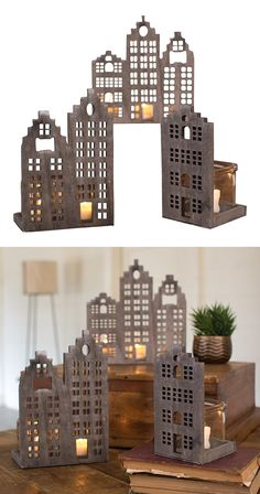 Get your houses in a row. Our Arden Candle Holders set includes three unique…