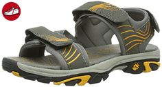 Jack Wolfskin BOYS WATERRAT, Jungen Sport- & Outdoor Sandalen, Grau (burly yellow 3800), 37 EU (4 Kinder UK) - Jack wolfskin schuhe (*Partner-Link)