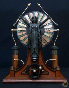Tipo de Máquina de Wimshurst Magnificis frontal by Casavius on http://salon.clockworker.de/