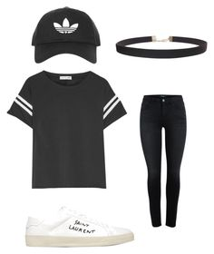 """""""Badass"""" by an-fonn ❤ liked on Polyvore featuring rag & bone, Topshop, Yves Saint Laurent and Humble Chic"""