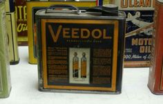 Early Veedol Motor Oil Can